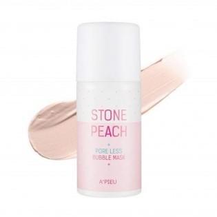 Маска для лица кислородная A'PIEU Stone Peach Pore Less Bubble Mask, 60 мл.