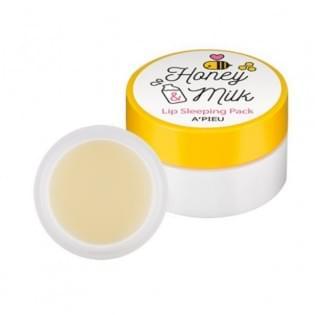Маска для губ ночная A'PIEU Honey & Milk Lip Sleeping Pack, 6,7 мл.