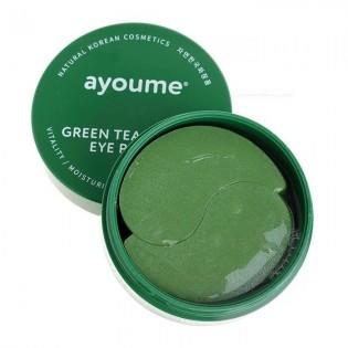 Патчи для глаз от отечности с экстрактом зеленого чая и алоэ AYOUME GREEN TEA+ALOE EYE PATCH, 60 шт.