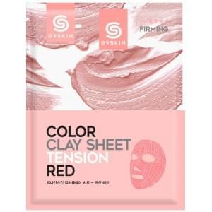 Маска для лица глиняная листовая Berrisom G9SKIN COLOR CLAY SHEET- TENSION RED