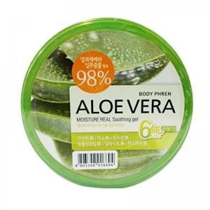 Гель для тела успокаивающий WELCOS Aloe vera Moisture Real Soothing Gel (большой объем)