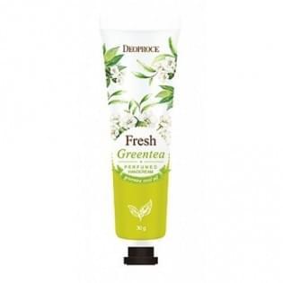 Крем для рук парфюмированный с экстрактом зеленого чая DEOPROCE FRESH GREENTEA PERFUMED HAND CREAM, 30 мл.