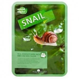 Маска для лица тканевая с улиточным муцином MAY ISLAND Real Essence Snail Mask Pack