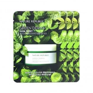 Маска для лица тканевая NATURE REPUBLIC GREEN DERMA MASK SHEET
