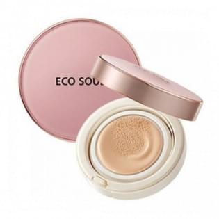 Компактная тональная основа The Saem Eco Soul Bounce Cream Foundation 02 Natural Beige, 15 гр.