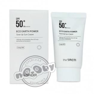 Крем солнцезащитный SPF50 The Saem Eco Earth Power Tone Up Sun Cream, 50 мл.