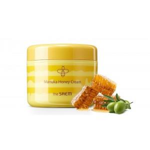 Крем для лица с экстрактом меда Манука The Saem Care plus Manuka Honey Cream, 100 мл.