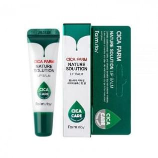 Восстанавливающий бальзам для губ с центеллой азиатской FarmStay Cica Farm Nature Solution Lip Balm, 10 гр.