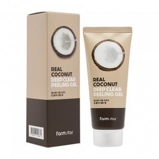 Отшелушивающий гель с экстрактом кокоса FarmStay Real Coconut Deep Clear Peeling Gel, 100 мл.