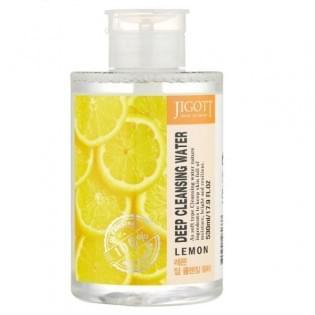Жидкость для снятия макияжа с экстрактом лимона JIGOTT LEMON Deep Cleansing Water, 530 мл