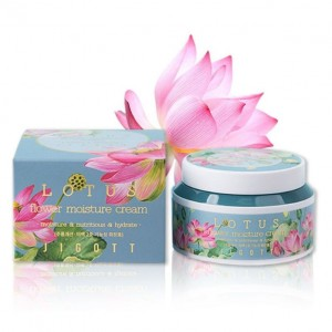 Крем для лица с экстрактом лотоса JIGOTT LOTUS Flower Moisture Cream, 100 мл