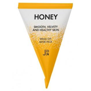 Маска для лица медовая J:ON Honey Smooth Velvety and Healthy Skin Wash Off Mask Pack, 5 гр.