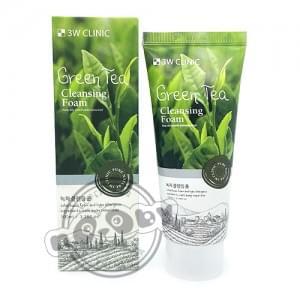 Пенка для умывания 3W Clinic Green Tea Foam Cleansing с экстрактом зеленого чая