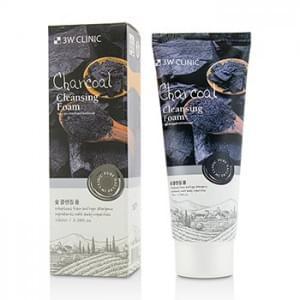Пенка для умывания натуральная с углем 3W CLINIC Charcoal Cleansing Foam