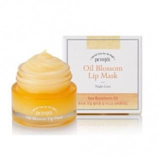 Маска для губ с витамином Е и маслом облепихи Petitfee Oil Blossom Lip Mask (Sea Buckthorn oil), 15 мл.