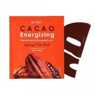 Гидрогелевая маска для лица с экстрактом какао PETITFEE Cacao Energizing Hydrogel Face Mask