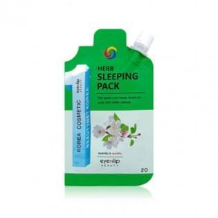 Маска для лица ночная с травами EYENLIP POCKET HERB SLEEPING PACK, 20 мл.