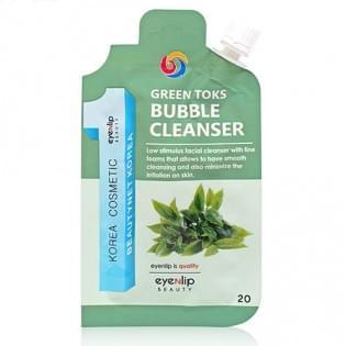 Пенка для умывания Eyenlip GREEN TOKS BUBBLE CLEANSER, 20 мл.