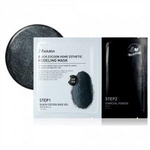 Альгинатная маска c древесным углем и шелкопрядом JMSolution Black Cocoon Home Esthetic Modeling