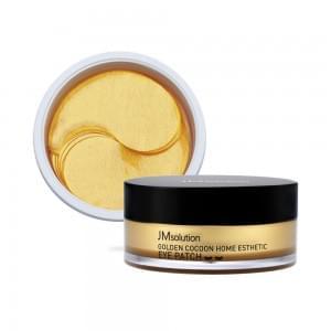 Гидрогелевые патчи с золотом и шелкопрядом JMSolution Golden Cocoon Home Esthetiс Eye Patch