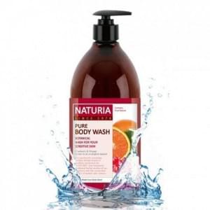 Гель для душа с клюквой и апельсином NATURIA PURE BODY WASH (Cranberry & Orange), 750 мл.