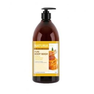Гель для душа с медом и илилей NATURIA PURE BODY WASH (Honey & White Lily), 750 мл.