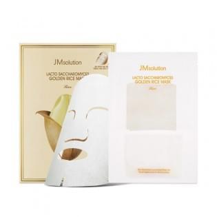 Выравнивающая тон лица тканевая маска JMsolution Lacto Saccharomyces Golden Rice Mask