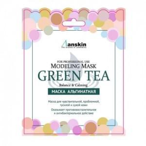 Маска альгинатная с экстр. зел.чая усп. (саше) ANSKIN Green Tea Modeling Mask / Refill 25гр