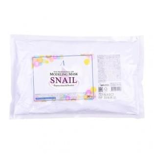 Маска альгинатная с муцином улитки (пакет) Anskin Snail Modeling Mask/(Refill) 240 гр.