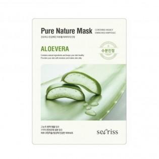 Маска для лица тканевая Anskin Secriss Pure Nature Mask Pack- Aloevera