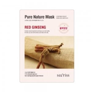 Маска для лица тканевая Anskin Secriss Pure Nature Mask Pack- Red ginseng