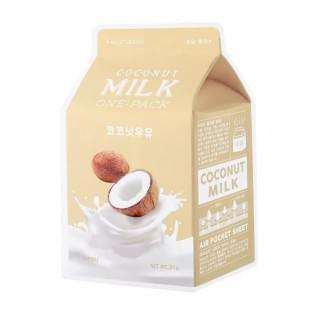Маска для лица тканевая кокосовая A'PIEU Coconut Milk One-Pack