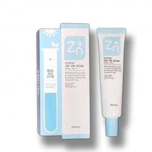 Крем солнцезащитный с цинком A'PIEU Cicative Zinc Sun Cream, 40 мл.