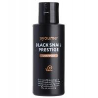Шампунь для волос с муцином улитки Ayoume black snail prestige shampoo, 100 мл.