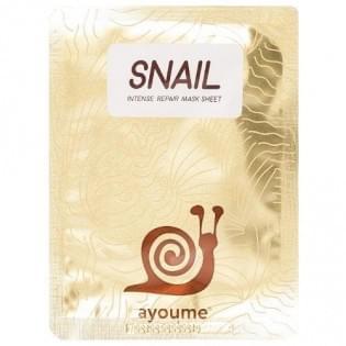 Маска для лица тканевая с муцином улитки AYOUME Snail Intense Repair Mask
