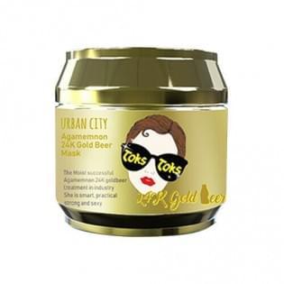 Маска для лица с 24к золотом Baviphat Urban City Agamemnon 24K Gold Beer Mask, 90 мл.