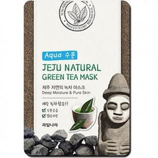 Маска для лица успокаивающая WELCOS  Jeju Nature's Green Tea Mask
