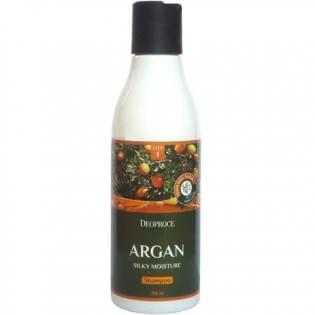 Шампунь для волос с аргановым маслом DEOPROCE ARGAN SILKY MOISTURE SHAMPOO, 200 мл.