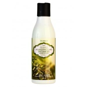 Лосьон для кожи ног и рук DEOPROCE SILKVILL NOURISHING CARE FACE & BODY HAND & FOOT LOTION