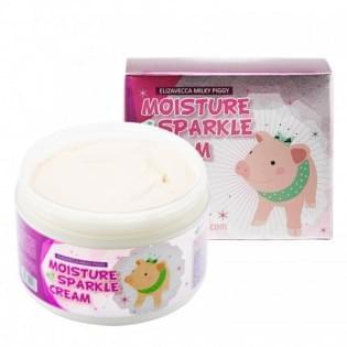 Крем увлажняющий с эффектом сияния ELIZAVECCA Moisture Sparkle Cream, 100 мл.