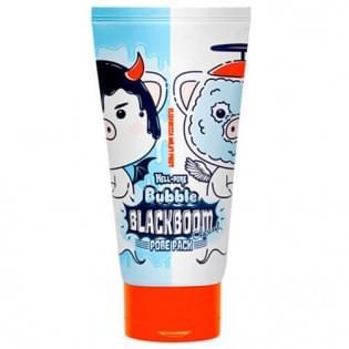 Маска кислородная для очищения пор ELIZAVECCA Hell-Pore Bubble blackboom pore pack, 150 мл.