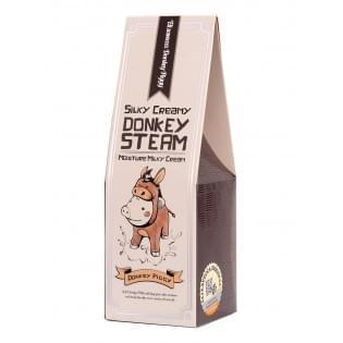 Крем для кожи молочный увлажняющий  Elizavecca Silky Creamy Donkey Steam Moisture Milky Cream, 100 мл.