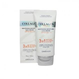 Крем солнцезащитный Enough 3in1 Collagen Sun Cream, 50 мл.