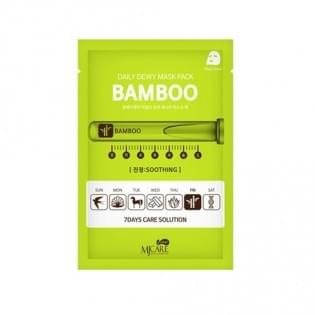 Маска тканевая c экстрактом бамбука MJ CARE DAILY DEW MASK PACK BAMBOO