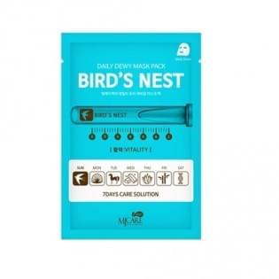 Маска тканевая c экстрактом ласточкиного гнезда MJ CARE DAILY DEW MASK PACK BIRD'S NEST
