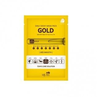 Маска тканевая c золотом MJ CARE DAILY DEW MASK PACK GOLD