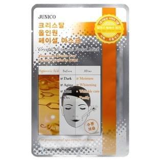 Маска тканевая c гиалуроновой кислотой Mijin Junico Crystal All-in-one Facial Mask Hyaluronic Acid