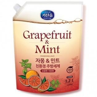 Средство для мытья посуды с грейпфрутом и мятой MUKUNGHWA Grapefruit&Mint Dishwashing Detergent 1.2л