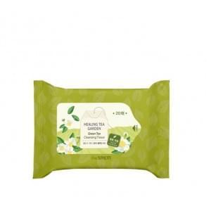 Салфетки очищающие с экстрактом зеленого чая The Saem  Healing Tea Garden Green Tea Cleansing Tissue