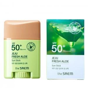 Стик солнцезащитный с экстрактом алоэ The Saem Jeju Fresh Aloe Sun Gel spf50+